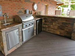 stone outdoor kitchen space